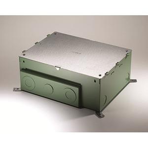 "Wiremold EFB8S-OG Floor Box, 8-Gang, Depth: 6"", EFB8 Series, Metallic"