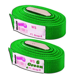 Dottie 2WS06 Web Straps w/ Buckle, 6', Nylon, Green, 2-Pack