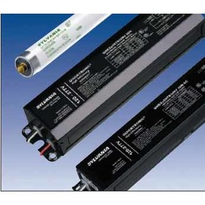 SYLVANIA QHE-2X59T8/UNV-ISN-SC Electronic Ballast, Fluorescent, T8, 2-Lamp, 59W, 120-277V