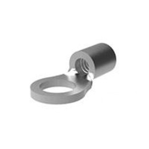 """Tyco Electronics 34124 Ring Terminal, Non-Insulated, 16 - 14 AWG, 1/4"""" Stud Size"""