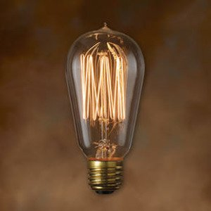 Bulbrite NOS40-1910 Incandescent Bulb, Antique, ST18, 40W, 120V, Thread