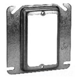 """Cooper Crouse-Hinds TP484 4"""" Square Cover, 1/2"""" Raised, 1-Device"""