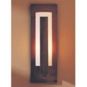Hubbardton Forge 30-7285F-10-G66 Wall Light, Outdoor, 1 Light, 100W, Dark Smoke