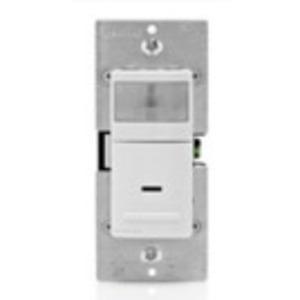 Leviton IPV02-1LT Universal Wall Switch, Occupancy Sensor, Light Almond
