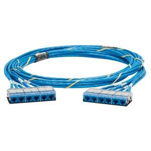 Panduit QZPBCBCBXX24 QN Cable Assembly, Cat 6A, Blue Jacks/Ca *** Discontinued ***