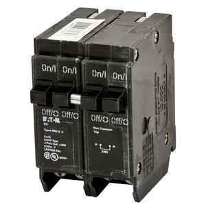 Eaton BQC2402120 Breaker, 40/20A, 2P, 120/240V, 10 kAIC, CTL Quad, BR Series