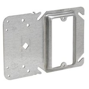"""Cooper Crouse-Hinds TP37000 4"""" Square Cover, 3/4"""" Raised, 2-Device, With Mounting Bracket"""