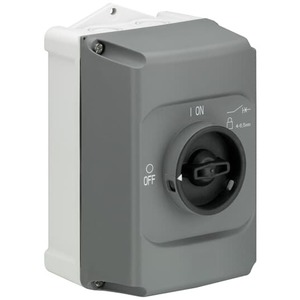 ABB IB132-G Enclosure, Gray, Clear Cover, MS132