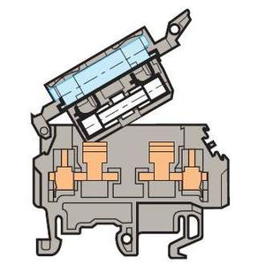 Entrelec 011566323 Terminal Block, Fuse Holder, 8mm, Type: M 4/8.SFL, Gray