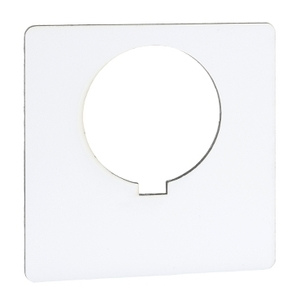 9001KN100WP 30MM LEGEND PLATE - BLANK (W