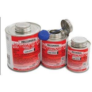 Rectorseal 55993 PVC Cement, Medium Body, Very Fast-Set, Blue, Size: 1 Quart