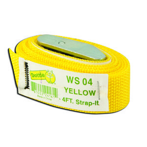Dottie WS04 Web Strap w/ Buckle, Nylon, 5', Yellow