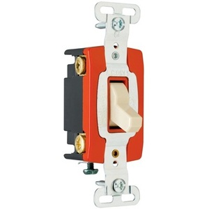 Pass & Seymour PS20AC4 4-Way Toggle Switch, 20A, 120/277VAC, Brown
