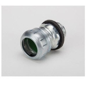 "Bridgeport Fittings 250-SRT EMT Compression Connector, 1/2"", Raintight/Concrete Tight, Steel"