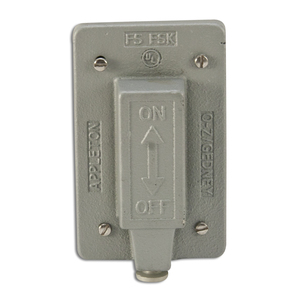 Appleton FSK-1VTS Tumbler Switch Cover, 1-Gang, Malleable Iron