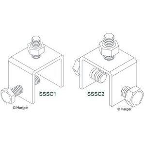 Harger Lightning & Grounding SSSC2 SS SEAM CLAMP 2 BOLT