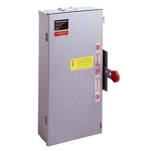 Eaton DT223URK-NPS Safety Switch, 100A, 2P, 240VAC/250VDC, Double Throw, Non-Fusible