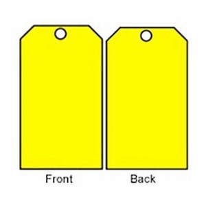 Brady 76197 BLANK ACCIDENT PREVENTION TAG W/OVERLAM