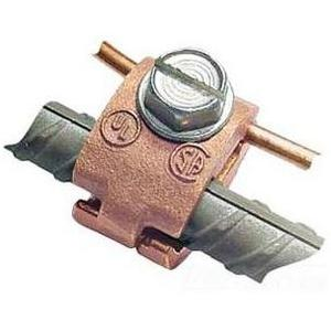 "Greaves J-30-DB Rebar Ground Clamp, 1/2"", 8 to 4 AWG, Bronze"