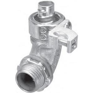 "American Fittings Corp STR30090GL 3"" 90° Liquidtight Connector 3/4"" w/ Grounding Lug"