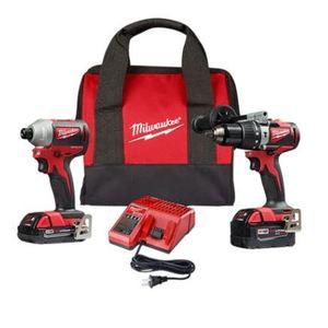 Milwaukee 2893-22 M18 Brushless 2-Tool Combo Kit, Hammer Drill/Impact Driver