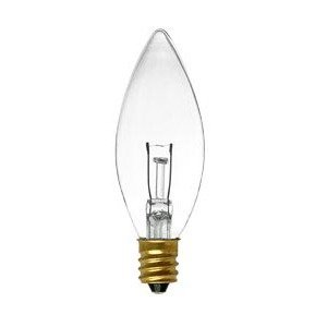 Damar 04471A Incandescent Lamp, CTC, 40W, 130V, Clear
