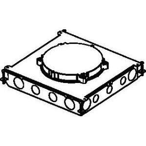 Wiremold RFB6E-OG STL FLR BX RND 6-GANG RFB ON GRADE