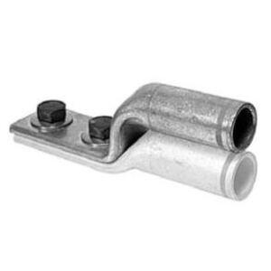 "Greaves SL30N Stacking Compression Lug, Long Barrel, 2-Hole, Copper, 3/0 AWG, 1/2"" Stud"