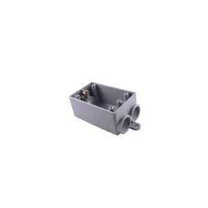 FSCC10 PVC SW BOX 1G 3 1/2 HUBS
