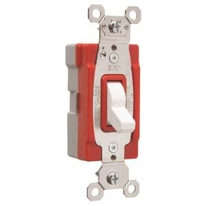 Pass & Seymour PT20AC1-W PlugTail Switch, 1-Pole, 20A, 120/277VAC, White