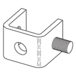 Eaton B-Line B400-1ZN ONE STUD RING CONNECTION, ZINC PLATED