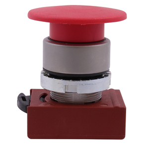 GE P9MET4RL1 Push Button, Illuminated, Mushroom, Push-Pull, Red Head, 40mm