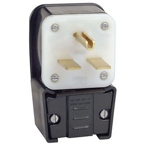 Leviton 9630-P 30 Amp Angle Plug, 250V, 6-30P, Grounding