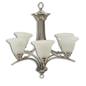 Volume Lighting V5245-33 Trinidad Five Lamp Chandelier
