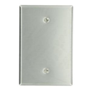 Leviton 84114-40 Blank Wallplate, 1-Gang, 302 Stainless Steel, Oversize