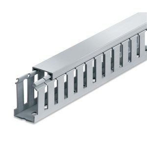 "Thomas & Betts TYD15X15WPG6 Wiring Duct Wide Slot, 1.5""x1.5"", Gray"