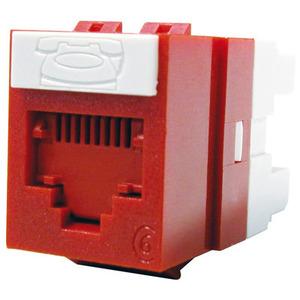 Molex Premise Networks KSJ-00018-RD Snap In Connector, PowerCat 6, DG Jack, Cat 6, 568A/B, Red