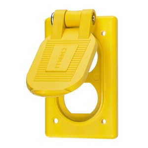 Hubbell-Kellems HBL52CM21 Weatherproof Cover, 1-Gang, Type: Duplex, Flip Lid, Non-Metallic
