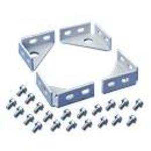 Hoffman PFBK Rack, Floor Mounting Bracket, 4 Pieces with Hardware, Plated
