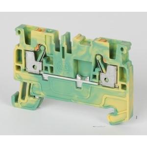 Allen-Bradley 1492-PG3 Terminal Block, Grounding, Yellow/Green, 5.1mm, 600VAC/DC, 28-12AWG