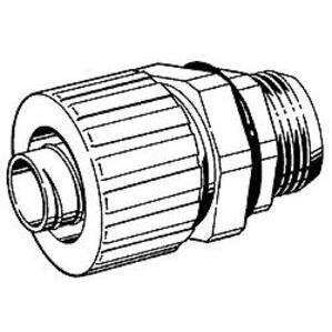 "Hubbell-Raco 4745 Connector Liquidtight Flex, 1-1/4"", Nylon, Black"