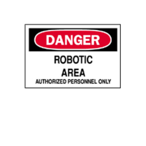 "Brady 22125 Sign, DANGER Robotic Area, 7"" x 10"", Indoor/Outdoor"