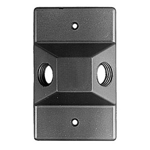 Red Dot LC-21 2 HOLE 1/2inch RECTANGULAR COVER