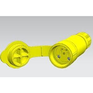 Woodhead 15W07 Non-Nema Locking Connector, Watertight, 15A/10A, 125/250V, Rubber