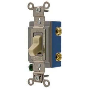 Hubbell-Kellems HBL1201I Single Pole Toggle Switch, 15A, Ivory