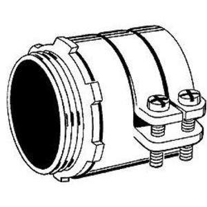 """Hubbell-Raco 2106 Flex Connector, Type: Squeeze, Non-Insulated, 1-1/2"""", Malleable"""