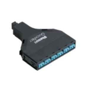 Panduit FQZO-12-BUAS LC Adapter, Fiber QuickNet, OM4, 10Gig, 50/125 um, Duplex, 12 Fiber