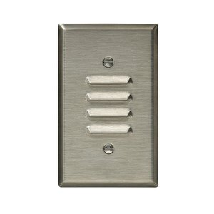 Eaton Wiring Devices 93631-BOX WALLPLATE 1G LOUVER VERTICAL STD SS