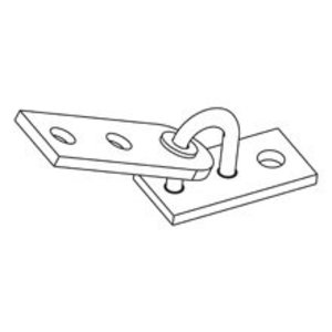 "Eaton B-Line B633-1/2ZN Adjustable Seismic Hinge Fitting, Size: 1/2"", Material: Steel"