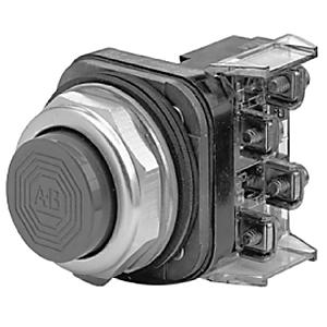 Allen-Bradley 800T-B1A Push Button, Extended Head, 30mm, Green, NEMA 4/13